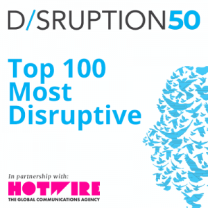 "We are ""one to watch"" in new disruption index! 